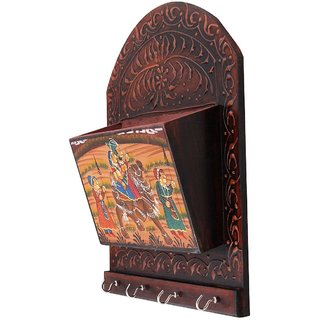Gomati Ethnic Dhola Maru Painted 4 Key Magazine Holder Gift Handicraft