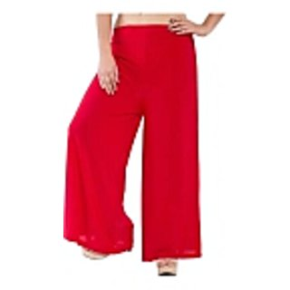 Red Lycra Palazzo