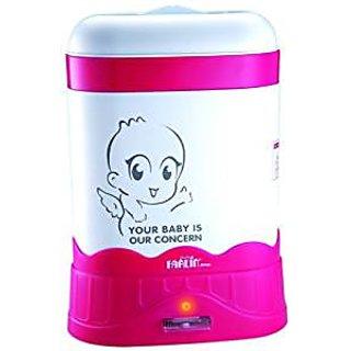 Farlin Auto Steam Sterilizer-3 Bottle (White/Pink)