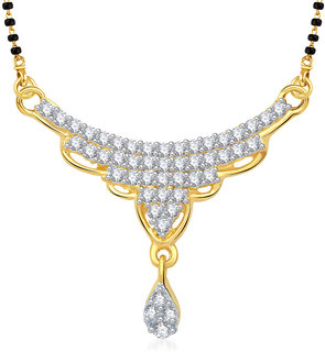 Vk Jewels Charming Gold Plated Mangalsutra Pendant - Mp1253G [Vkmp1253G]