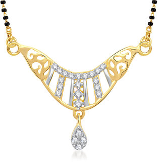 Vk Jewels Two Tone Design Gold Plated Mangalsutra Pendant - Mp1257G [Vkmp1257G]