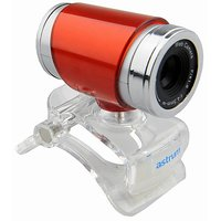 Astrum Eye To Eye HD Webcam With Mic 12MP   Red