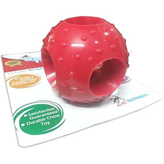 Jain sons Super Dog Super Rubber Hole Ball Medium Dog Toy