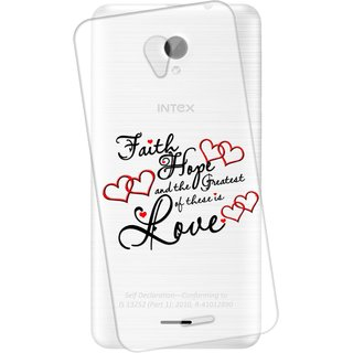 Snooky Printed transparent Silicone Back Case Cover For Intex Aqua Q7