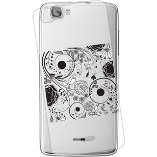Snooky Printed transparent Silicone Back Case Cover For Xolo Q610s