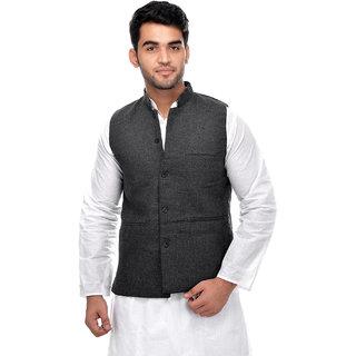 CALIBRO Men\'s Cotton Grey Nehru Jacket