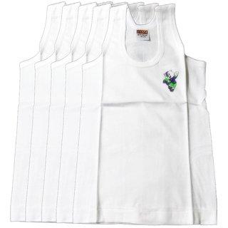 Alfa Stylo Kid's 100 combed Cotton Cartoon Print RN Vest - Pack of 5