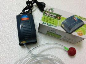 COLOURFUL AQUARIUM  Aquarium Air pump / Motor 1way + 1 mtr air tupe +1 Air Stone #SS108/AP208/RS180