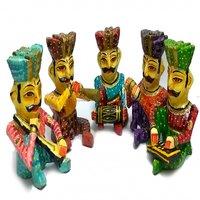 6 Inch Rajasthani Musician Set Of 5 Piece