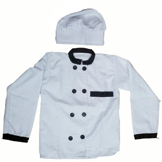 Chef Coat And Cap Fancy Dress Costume For Kids