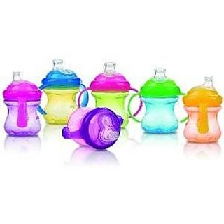 Nuby 240Ml Super Spout 2 Handle Cup (Colours May Vary)