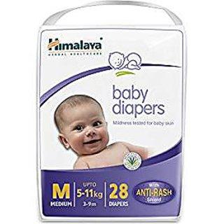 Himalaya Baby Medium Size Diapers (28 Count)