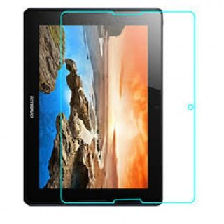 SNOOGG Lenovo A10-70 A7600, Lenovo A10-70 A7600 3G MTK8382 Quad Core 10.1 Inch Android 4.2 Tablet The Best clear Tempered Screen Glass Guard