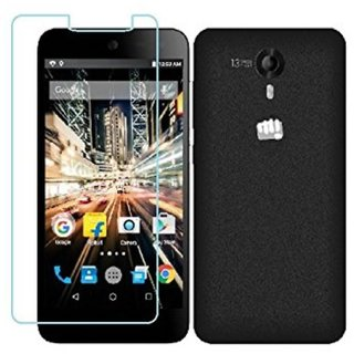 SNOOGG PACK OF 2 Micromax Canvas Amaze 2 E457 The Best clear Tempered Screen Glass Guard
