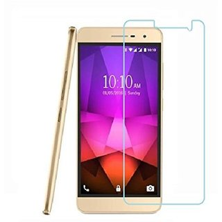 SNOOGG PACK OF 7 Lava X46 (Gold) The Best clear Tempered Screen Glass Guard