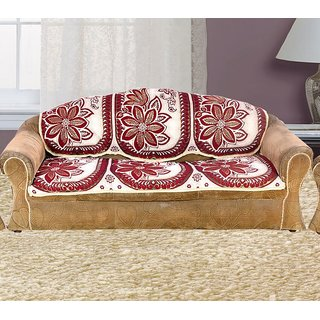 Vivek Homesaaz 5 Seater Poly Cotton Set Of 10 Sofa Cover
