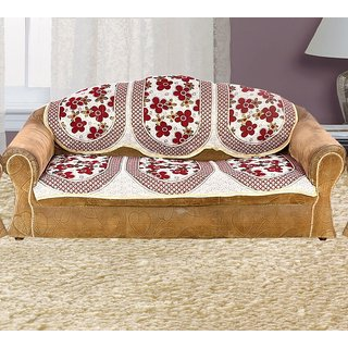 Vivek Homesaaz 5 Seater Poly Cotton Set of 10 Sofa Cover Set