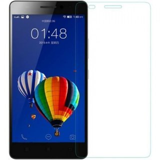 SNOOGG PACK OF 8 Lenovo A5000 (Black) The Best clear Tempered Screen Glass Guard