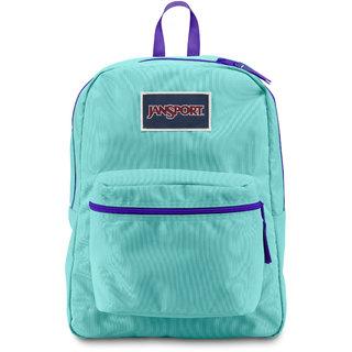 JanSport Overexposed Backpack Aqua Dash/Violet Purple