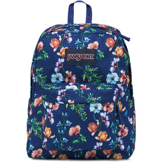 JanSport Superbreak Backpack Multi Navy Mountain Meadow