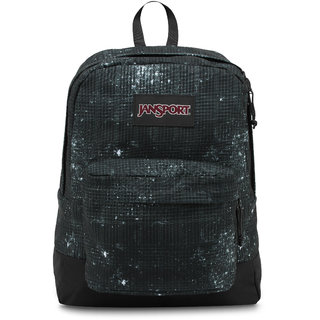 JanSport Black Label Superbreak Backpack Black Galaxy Plaid