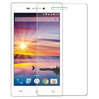 SNOOGG PACK OF 4 Lava A89 (White) Tempered Glass Screen Guard / Screen Protector ExPLLosion Proof