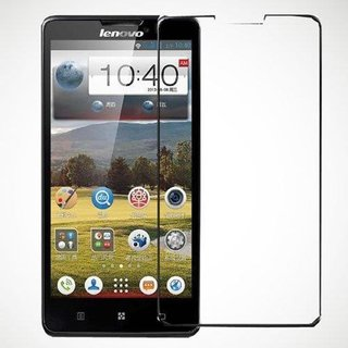 SNOOGG Lenovo A850 (Black) Toughened Tempered Glass Screen Guard Protector
