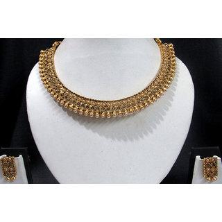 Golden Stone Kada Necklace Set