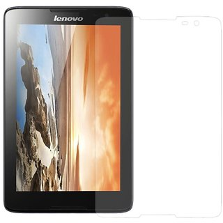 SNOOGG PACK OF 3 Lenovo A7-30 (A3300-HV) Tablet (7 inch, 8GB, Wi-Fi+3G+Voice Calling), Black Clear Screen Guard Toughened Glass