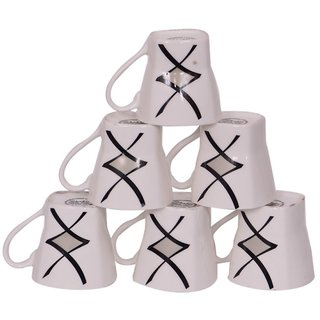 Glossy Tea Cups set of 6 -(PC199)