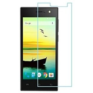 SNOOGG PACK OF 8 Lava A76 (Black) Clear Screen Guard Toughened Glass
