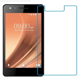 SNOOGG PACK OF 8 Lava A68 (Gold) Toughened Tempered Glass Screen Guard Protector