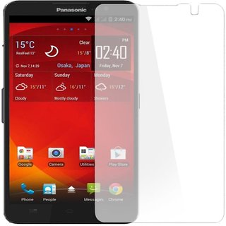 SNOOGG Panasonic T50 (Champagne Gold) Branded Ultra Clear Perfect Fitting Mobile Screen Guard Screen Protector