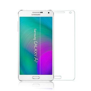 SNOOGG Pack of 8 Samsung Galaxy A7 Full Body Tempered Glass Screen Protector [ Full Body Edge to Edge ] [ Anti Scratch ] [ 2.5D Round Edge] [HD View]  White