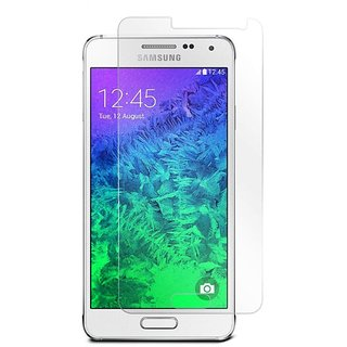 SNOOGG Pack of 8 Samsung Galaxy E5 Full Body Tempered Glass Screen Protector [ Full Body Edge to Edge ] [ Anti Scratch ] [ 2.5D Round Edge] [HD View]  White