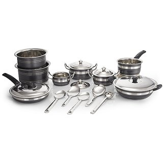 Mahavir 18 Pc HTR Coated Cookware Set