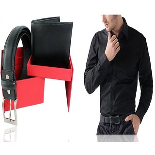 Gift Pack Men's Combo(1Shirt +1Wallet +1Belt)