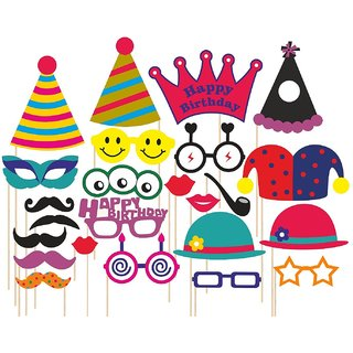 buy syga party props set of 24 birthday theme paper craft item