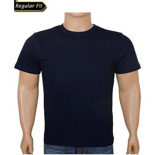Men Royal Blue Round Neck Tshirt