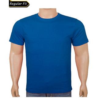 Men Blue Round Neck Tshirt