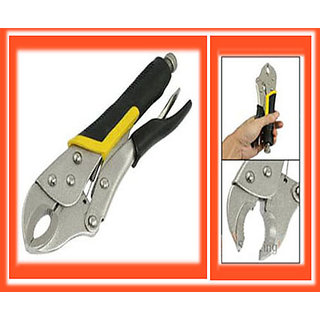 Locking Plier Nonslip Grips Steel Round Mouth Clamping Wrench