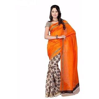 SVB Orange Batik Print Cotton
