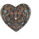 Beautiful Heart Shape Wooden Wall Key Hanger Holder Panel Home Office Décor Gift