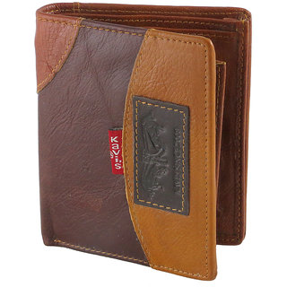 eBizz Fancy Brown Leatherite Wallet  Stylish Leather Wallet for Boys Men