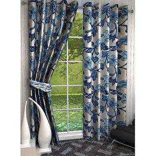 Home Luxurious 2 Piece New Premium Designer Curtains ( Size - Length 9Ft Width 4ft )