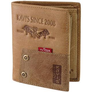 eBizz Fancy Brown Leatherite Wallet  Stylish Leather Wallet for Boys Men