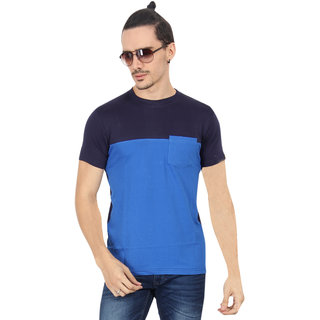 Zsolt Half Sleeve Double Color Round Neck Men'S T-Shirt