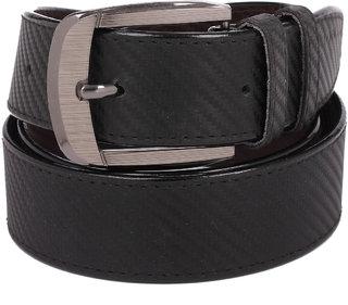Calibro Men\'S Black Fux Leather Belt CMFLB-011