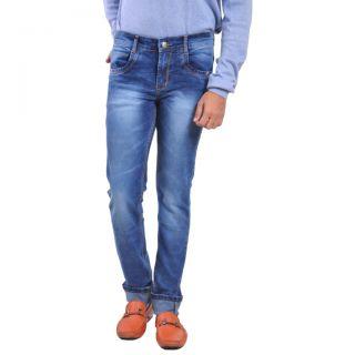 LOBSTAR  Slim Fit  Mid Rise Men's Blue Jeans