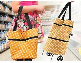 Troley foldable handbag for shopping
